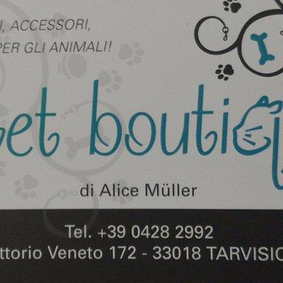 Pet boutique offre una vasta scelta di alimenti ed accessori di qualità per i nostri amici!