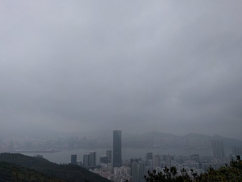 East of Hong Kong Island (smoggy)