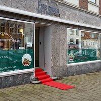 Flot Cafe og midt i Skanderborg by