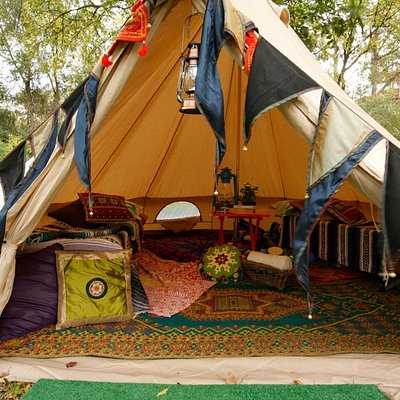 canvas bell tent setup for your cozy campsite
