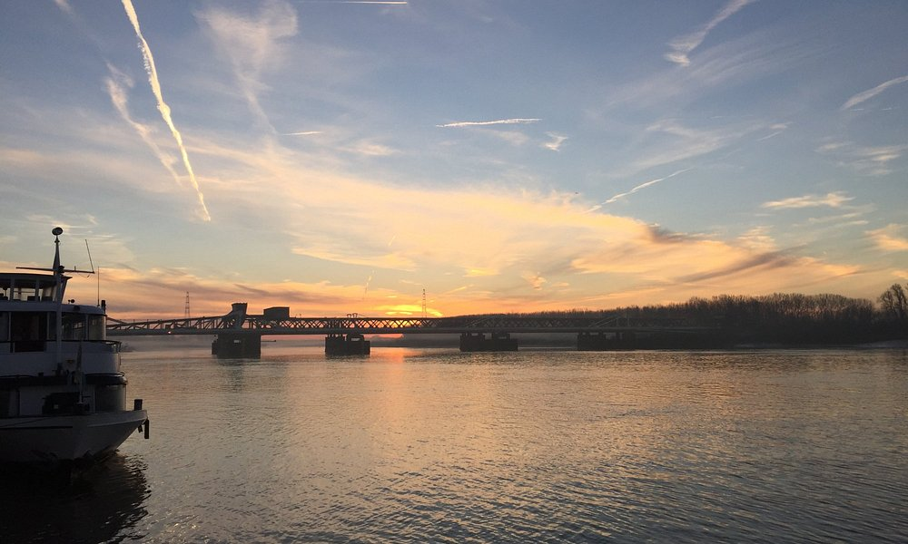 Zonsopgang Temsebrug aan de Schelde