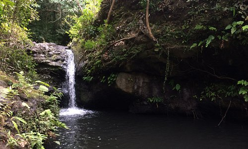 El Kabayo Waterfall (and swimming hole) is about a 10 minute drive from Subic Bay.