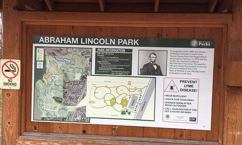 Abraham Lincoln Park - park signboard