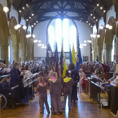 A Parade Service with our Scouting and Guiding groups