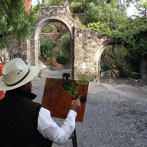 Pintando en Santo Domingo