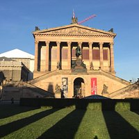 Friedrich Wilhelm IV of Prussia in front of Alte Nationalgalerie