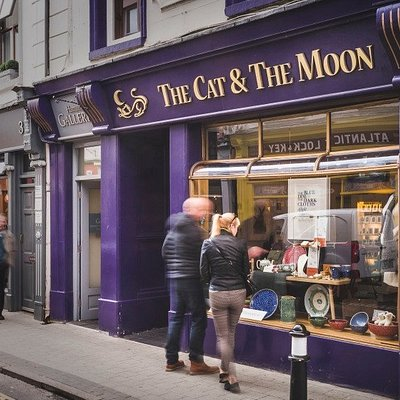 The Cat and The Moon Sligo. Finest Irish handmade artisan craft and jewellery.