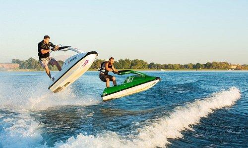 Jet ski on the Columbia River