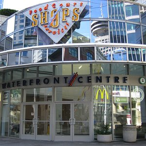Entrance to the shops of Waterfront Centre.
