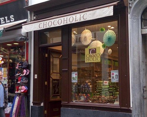 Chocoholic's shop sign