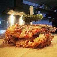 Cheese n Bean grilled sandwich