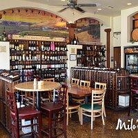 Seating at Milo's Restaurant & Cellar in Boulder City, Nevada