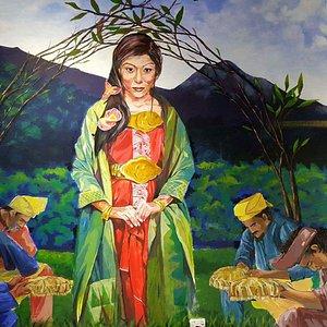 """""""Puteri Gunung Ledang"""" 3D mural painting in Cheritara"""