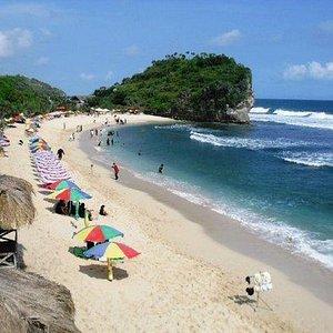 Indrayanti Beach,, there's more beach around,, Nice fresh seafood too :)