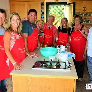 Let's enjoy a Greek cooking class followed by dinner with Vassiliki and Jorgos