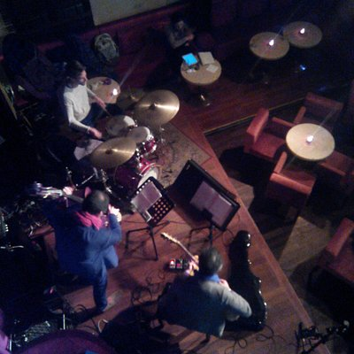 Jazz band as viewed from first floor