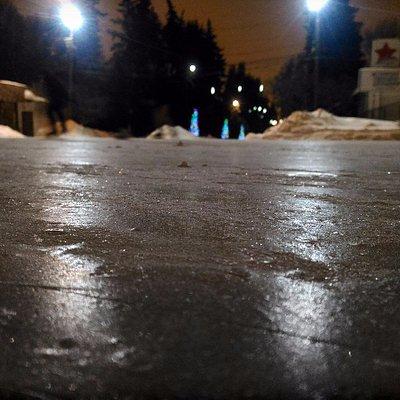Каток в парке Речного Вокзала — колдобины вместо льда!