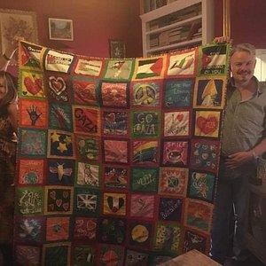 I visited the Palestine Museum in Bristol September 2016. The #BlanketofLoveForGaza was on displ
