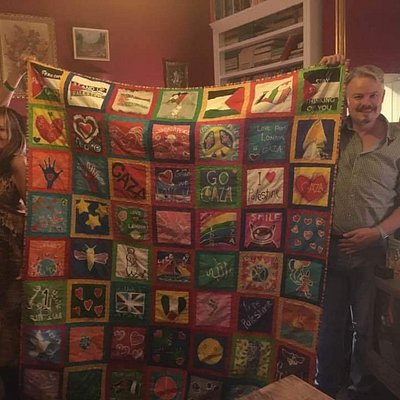 I visited the Palestine Museum in Bristol September 2016. The #BlanketofLoveForGaza was on displ