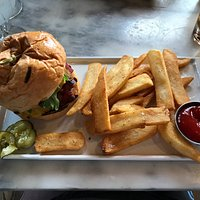 Fabulous burger cooked to perfection!