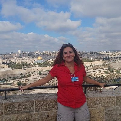The best panoramic view from Mount of Olives, Jerusalem