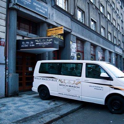 Your Misch Masch bus - front of Misch Masch music club & lounge