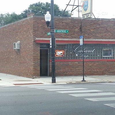 front of & entrance to Cabaret Lounge