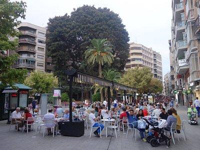 Plaza de Santo Domingo frente a la Iglesia del mismo nombre
