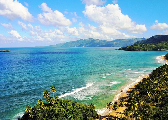 Playa Las Canas, von Westen gesehen (Drohnenfoto)