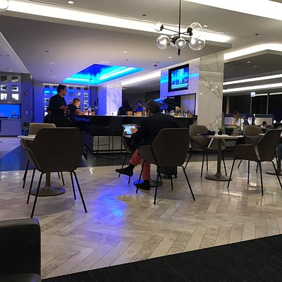 This new Polaris United's lounge is amazing. Get to the airport early just to enjoy the lounge.