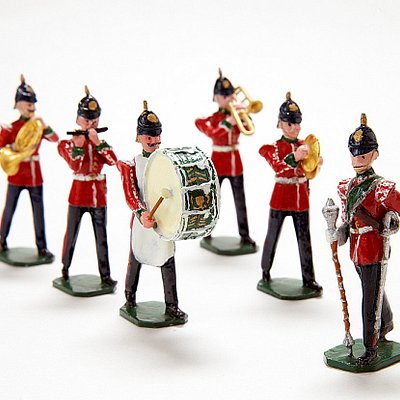 Miniature marching band.
