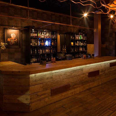 The main bar at The Copper Rooms