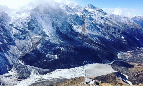 in the   photo its langtang  kyanjin gumpa valley . from where had taken on the way to tserkuri
