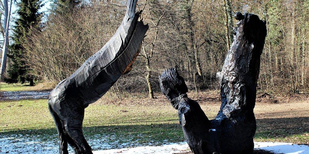 Skulptur des Holzbildhauers Stephan Guber