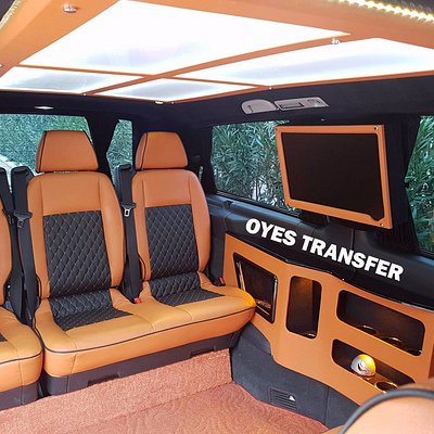 Oyes transfers offers you stress free ,comfy, leather seats ,Tv ,wifi with our vip vehicles