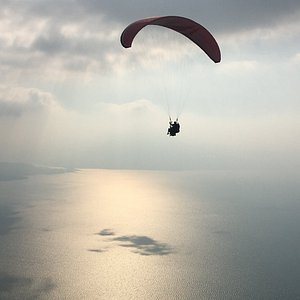 It's so peaceful once you're up in the air!