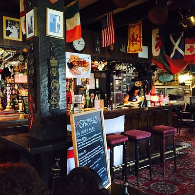 If you're looking for an authentic British Pub, you've found it. With typical pub grub, which is