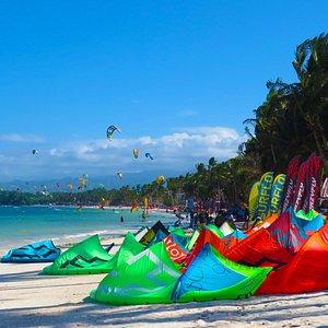 Bolabog Beach Kiteboarding spot in Boracay, Philippines