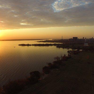 Por do Sol Capturado por um Drone