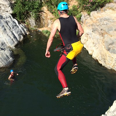 Jumping in the Canyon