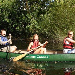 Canoe trip along the Teifi gorge
