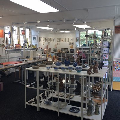 Fabulous light and airy exhibition space and contemporary craft shop supporting 100 Makers from