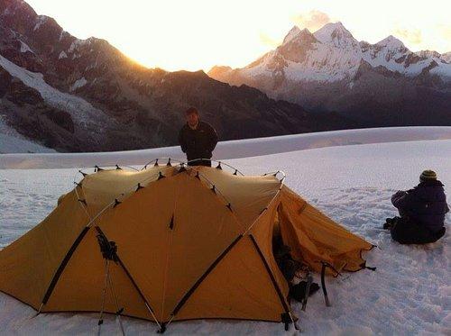 high camp of  Chopicalqui..