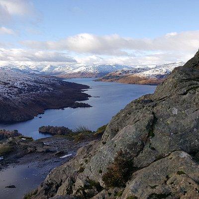 Loch Katrine desde Ben A'an con Stirling Aventura.