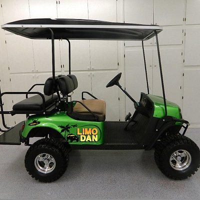 Fleet of 10 2017 EZGO 4 and 6 passenger carts ready for rental.  100% Legal to drive on the road