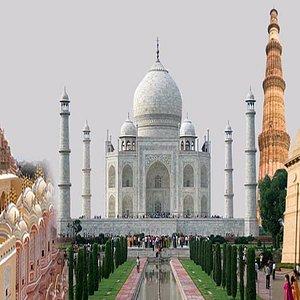 Delhi, Agra, Qutab Minar, Taj Mahal, India Gate