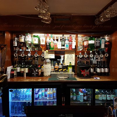 Well stocked historic bar