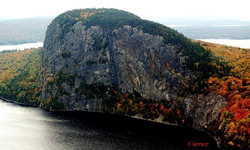 Mount Kineo on Moosehead Lake.