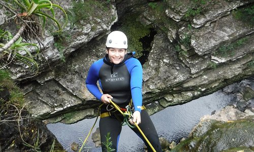 Abseil yourself or be lowered by your guide ;)