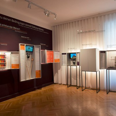 Hauptraum des Viktor Frankl Museum Wien